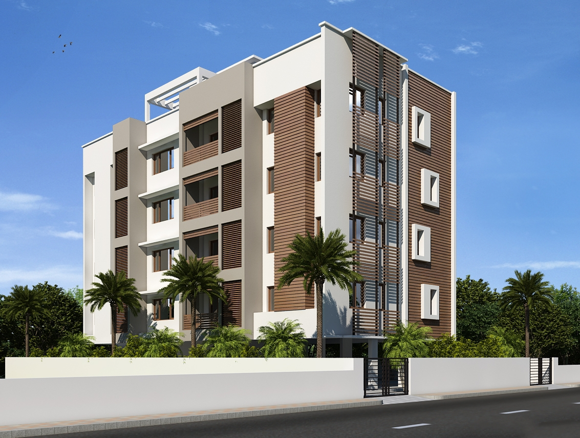 Four storey building facades مراحل ساخت ساختمان